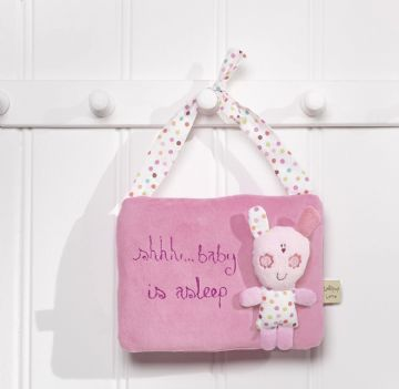 Upsy Daisy Pink Padded Nursery Door Hanger Decoration